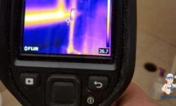 מהי היעילות של איתור נזילות מים במצלמה טרמית?
